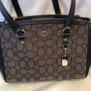 Coach purse, Gray and Black